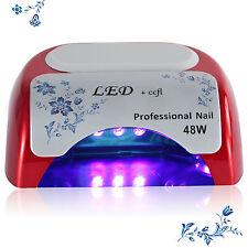 PopularGrow 48W Led Ccfl&Uv Nail Lamp Nagel Nail Art Gels Timer Polish Dryer