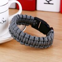 New Survival Paracord Bracelet For Men Original Outdoor Camping Hiking Buckle