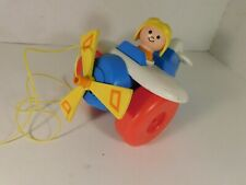 1980 #171 Fisher Price Airplane Pull Toy
