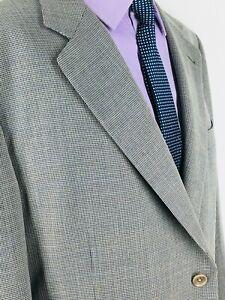48R Canali Italy Mens Vintage 2 Button Superfine Wool Blazer Jacket Italy 58R