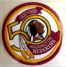WASHINGTON REDSKINS ~ 50th ANNIVERSARY NFL PATCH STAT CARD Willabee & Ward 1986