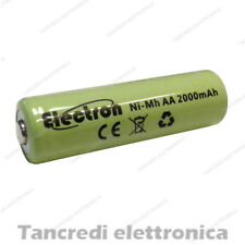 Batteria Stilo AA 2000 mAh mA ricaricabile rechargeable battery Ni-Mh NiMh