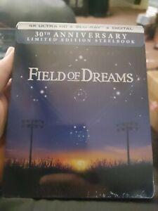 New! Field of Dreams 4k 30th Anniversary SteelBook UHD + Blu-Ray + Digital)