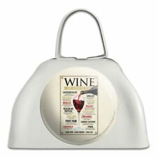 Wine From Around the World White Metal Cowbell Cow Bell Instrument