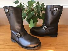 Getta Grip Martens England brown steel pull on biker boots UK 6.5 EU 40 NEW