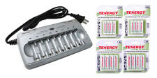 Tenergy TN145 8-Bay AA/AAA NiMH/NiCd Charger + 2 AA & 2 AAA Cards of Batter