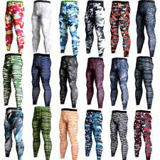 Men's Gym Compression Slim Tight Base Layer Sports Leggings Running Pants M-3XL