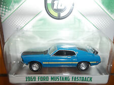 GREENLIGHT 1/64 10TH ANNIVERSARY BLUE 1969 FORD MUSTANG FASTBACK