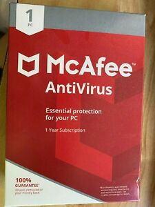 McAfee Antivirus - 1 Year - 1 Device