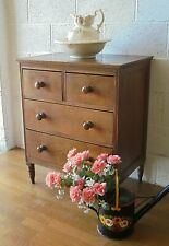 More details for antique country rustic farmhouse french oak chest of drawers 4 drawer chest