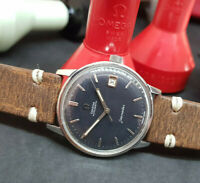 VINTAGE 1962 OMEGA SEAMASTER BLACK DIAL DATE CAL:562 AUTOMATIC MAN'S WATCH