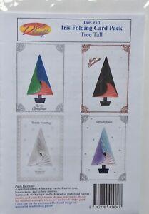 DeeCraft Iris Folding Card Pack - Tall Tree