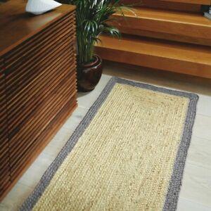 Rug 100% Natural Jute Braided style Runner Rug Handmade Rustic look Caarpet Rug