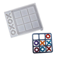 Epoxy Resin Silicone Molds Tic Tac Toe Game Mould Casting Pendant Making Craft