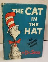 Dr. Seuss THE CAT IN THE HAT 1957 1st ED, 3rd Issue w/DJ Suess RARE! HIGHSPOT