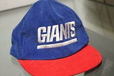 NY NEW YORK GIANTS CORDUROY SNAPBACK HAT CAP VINTAGE Blue / Red