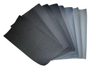 9x Micro Finishing Cloth 1500-12000, size 18x9cm, fountain pen mesh Polierleinen