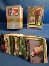 GOLF -1990 PRO SET FACTORY (100) + 2001 U D (65 of 200) CARDS ! T. WOODS (RC) !