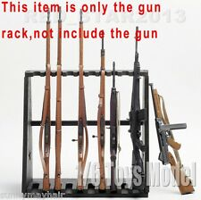 1/6 Scale Shotgun Rifle Submachine Gun Weapon Model Stand Display Shows No Guns