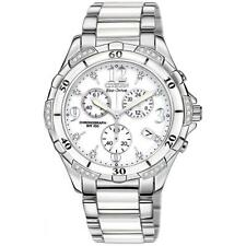 Citizen Women's Eco-Drive Diamond Stainless & White Ceramic Watch FB1230-50A