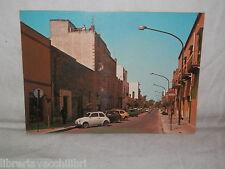 Vecchia cartolina foto d epoca di Partanna Viale Italia scorcio strada case