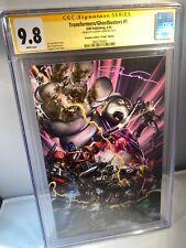 Transformers/Ghostbusters #1 - Crain Virgin Variant - CGC SS 9.8 - Lmtd 300