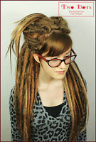 Ginger, Brown & Blonde Synthetic Dreadlocks Extensions, Single & Double Ended.