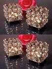 Crystal Tealight Votive Candle Holders Wedding Centerpieces 4 Pcs Set Square AU