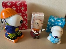 Snoopy Peanuts Charlie Brown Ceramic Bank Lot
