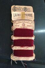 Lot Mercerie 5 Bandes Fils Vintage Cachemire Bon PasteuR Yves Laine St Pierre