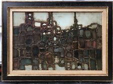 Mid-Century Modern Abstract Expressionist Signed Italian?American Original Frame