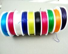 10 Roll  Elastic Beading Stretch Cord Wire String Thread Jewelry Making - Clear