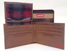 Levi's Men's Bi-fold Leather  Wallet Tan 31LV2216 Brand New With Tag In Gift Box