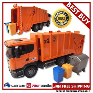 BRUDER SCANIA Rear Loading Garbage Truck 1:16 #03560 - EXCELLENT USED, FREE POST