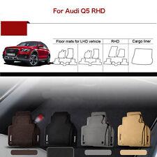 "Full Set 1/2""Thick Solid Nylon Interior Floor Carpet Mats For RHD Audi Q5"