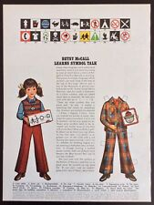 Betsy McCall Mag. Paper Doll, Betsy McCall Learns Symbol Talk, Sept. 1972