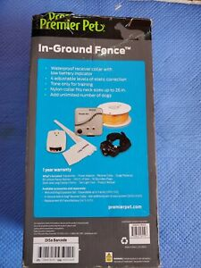 Premier Pet In-Ground Fence GIG00-16919. BOX CRUSH AND OPEN UNUSED NEW