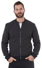 Men's Textured Fleece Plain Winter Top Tailored Fitted Warm Zip Jacket