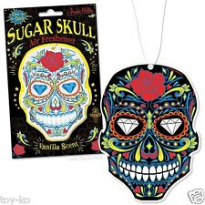 Sugar Skull Day Of The Dead Muertos Deluxe Glow In The Dark Air Freshener!