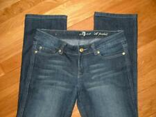 "7 Seven for all Mankind ""A"" pocket rhinestone straight dark wash Nice! 27 x 31"""