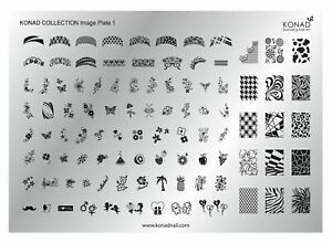 Konad Nail Products, Stamping Nail Art, Collection Image Plate.