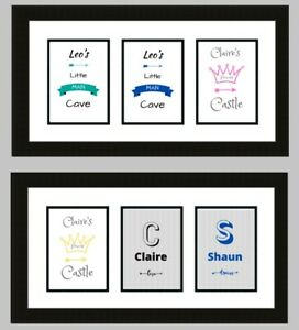 Personalised Nursery Art Prints Pictures Baby Toddler Boys Girls Bedroom Decor