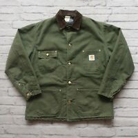 Vintage Carhartt Blanke Lined Canvas Chore Work Jacket M Green Made in USA Wip