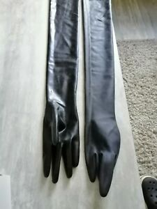 Latexhandschuhe Armlang Schwarz Größe M