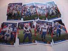 BUFFALO BILLS 4 team base sets of 8 (32 cards) 2017 DONRUSS Bruce Smith MCCOY
