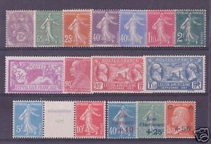 FRANCE STAMP ANNEE COMPLETE 1927 YVERT 234 /248 , 16 TIMBRES NEUFS  xx TTB