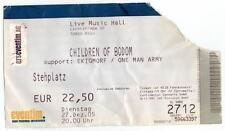 Children of Bodom - Alte Eintrittskarte Ticket vom 27.12.2005 - Sammlerstück