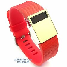 Metal Yellow Gold Cover Jewelry Ornament For Fitbit Charge HR Band Wristband Cap