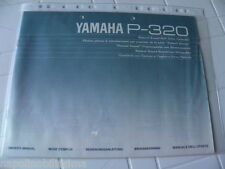 Yamaha P-320 Owner's Manual Operating Instruction New