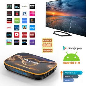 US 128GB Android 11.0 Quad-core TV BOX 4K 2.4G 5G Wifi HDMI Smart Media Player